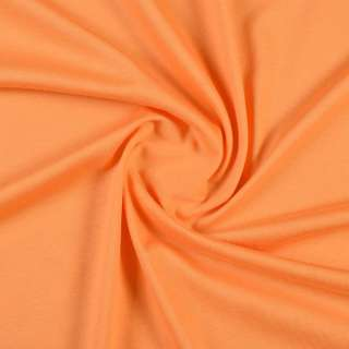 Трикотаж хлопковый оранжевый мандариновый, ш.148