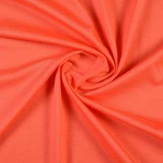 Трикотаж хлопковый оранжевый морковный, ш.150
