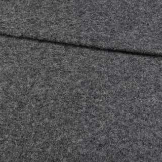 Трикотаж пальтовый BECKER темно-серый меланж, ш.155