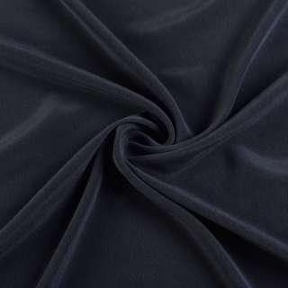 Шелк стрейч синий темный ш.136
