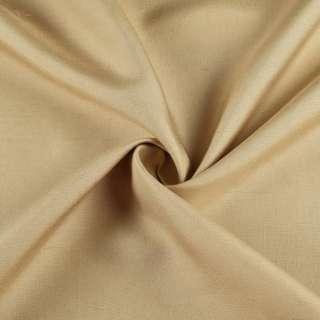 Шелк костюмный натуральный горчичный светлый в росчерки ш.135