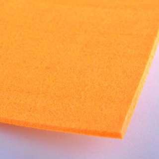 Фетр (для рукоделия) оранжевый (3мм) ш.100