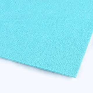 Фетр (для рукоделия) голубой лазурный (3мм) ш.100