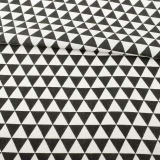 Деко-лен в черно-белые треугольники ш.152