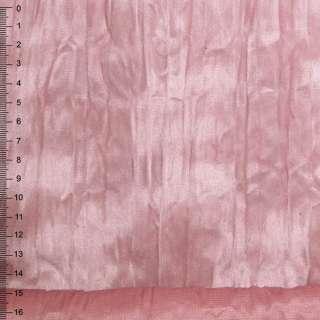 Замша искусственная дымчато-розовая жатая
