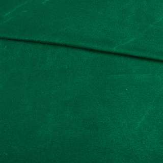 Замша стрейч зеленая темная, ш.155