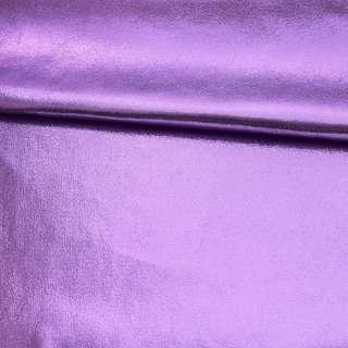 Замша искусственная с лазерным напылением сиреневая, ш.145
