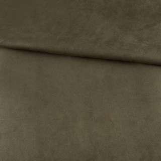 Замша на дайвинге оливковая, ш.154