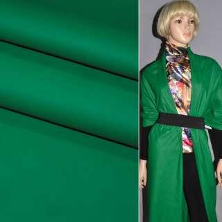 Кожа искусственная матовая зеленая на трикотажной основе ш.140