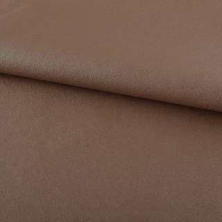 Кожа искусственная на флисе молочно-шоколадная ш.140