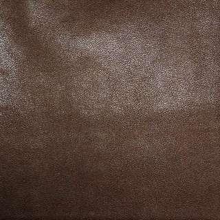 Кожа искусственная каштановая на флисе ш.140
