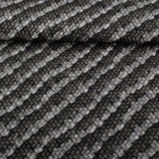 Кожа искусственная жатая серая в диагональные полосы с блестками ш.140