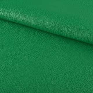 кожа искуст. на флисе блестящ. зеленая ш.144