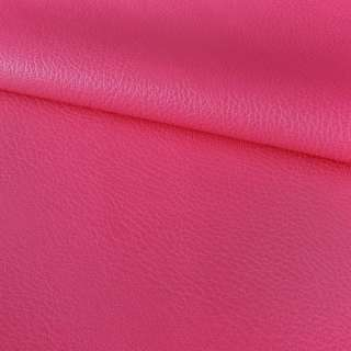 кожа искуст. на флисе блестящ. розово-малиновая ш.150