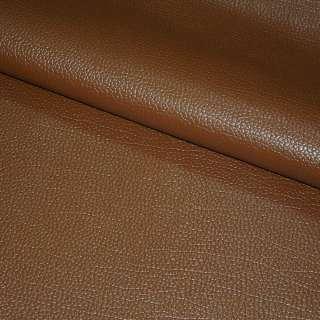 """Кожа искусственная коричневая на флисе """"пузырьки"""" ш.145"""