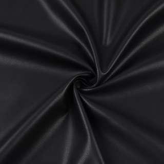 Кожа искусственная стрейч черная ш.145
