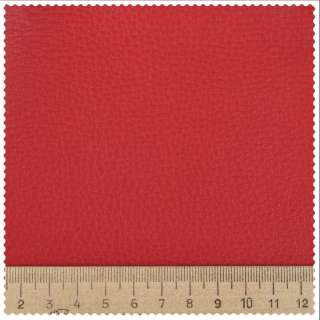Кожа искусственная мебельная обивочная красная 43-0000 ш.145