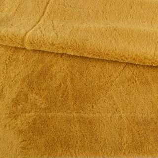 Мех искусственный кролик ворс 1см горчично-желтый ш.160