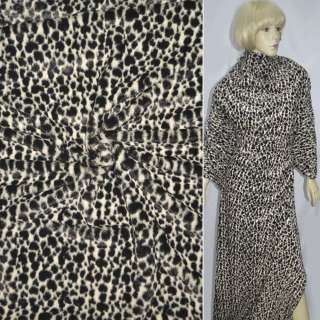 Мех искусственный коротковорсовый пятнистый черно-белый, ш.150