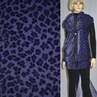 """Мех искусственный фиолетовый с черным """"леопард"""" ш.160"""