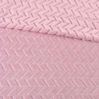 мех искусственный косичка с просветами розовый ш.170