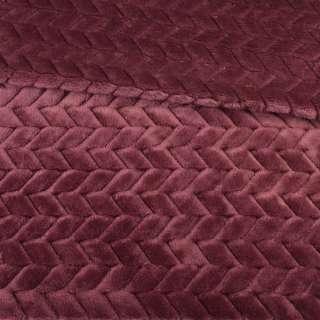 мех искусственный косичка с просветами марсала ш.165