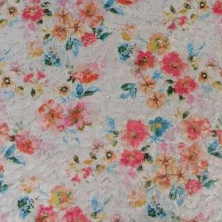 Мех стриженый серый в цветы, ш.146