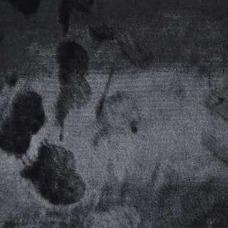 Мех искусственный под каракульчу черный