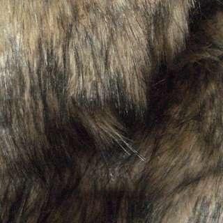 Мех искусственный длинноворсовый бежево-серый с черным, ш.150