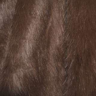 Мех искусственный длинноворсовый терракотовый ш.170