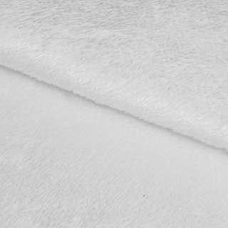 Мех искусственный коротковорсовый белый ш.165