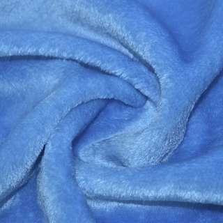 Мех искусственный голубой коротковорсовый ш.160