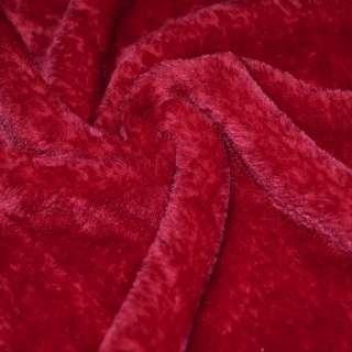 Мех искусственный красный коротковорсовый ш.160
