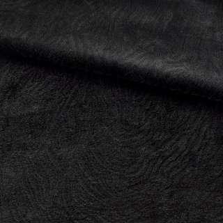 Мех мутон с тиснением черный, ш.160
