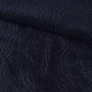 Мех мутон с тиснением синий темный, ш.150
