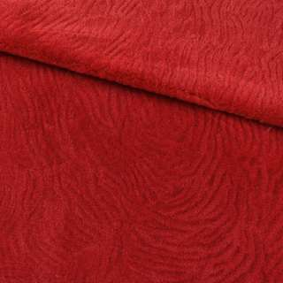 Мех мутон с тиснением красный, ш.160