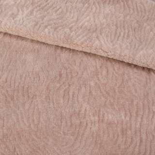 Мех мутон с тиснением розово-бежевый, ш.160