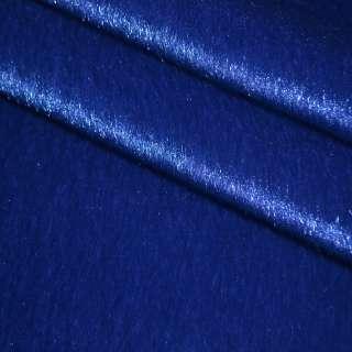 Мех искусственный коротковорсовый темно-синий, ш.150