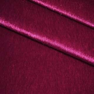 Мех искусственный коротковорсовый темно-малиновый, ш.150