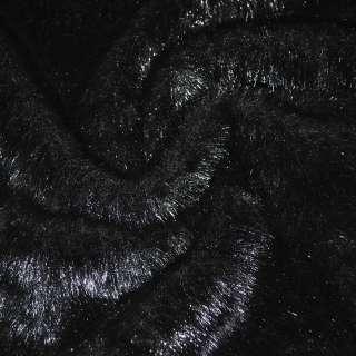 Мех искусственный средневорсовый черный ш.170