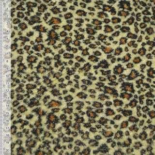 Велюр светло-желтый принт леопард ш.150