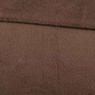 Мех искусственный овчина тонкий коричневый ш.175