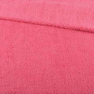 Мех искусственный овчина тонкий розово-коралловый ш.175