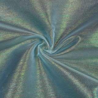 Органза голубая в разноцветные метанити, ш.150
