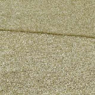 Мерцающий трикотаж из мягкой мишуры светлое золото, ш.155