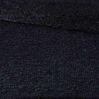 Мерцающий трикотаж из мягкой мишуры черный, ш.155