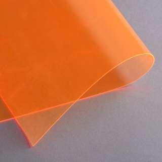 Силикон (0,5мм) оранжевый неоновый прозрачный ш.122