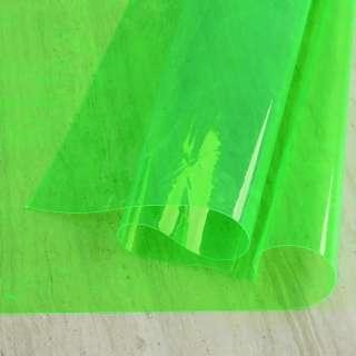Силикон (0,2мм) салатовый неоновый прозрачный ш.122