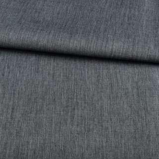 ПВХ ткань оксфорд лен 300D серо-синий темный, ш.150