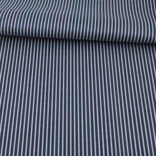 Ткань ПВХ синяя темная в серую полоску, ш.148